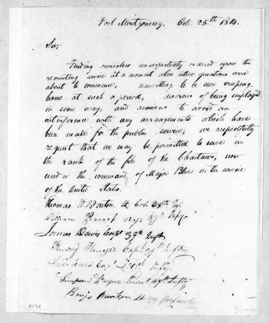 Thomas Hart Benton et al., October 25, 1814