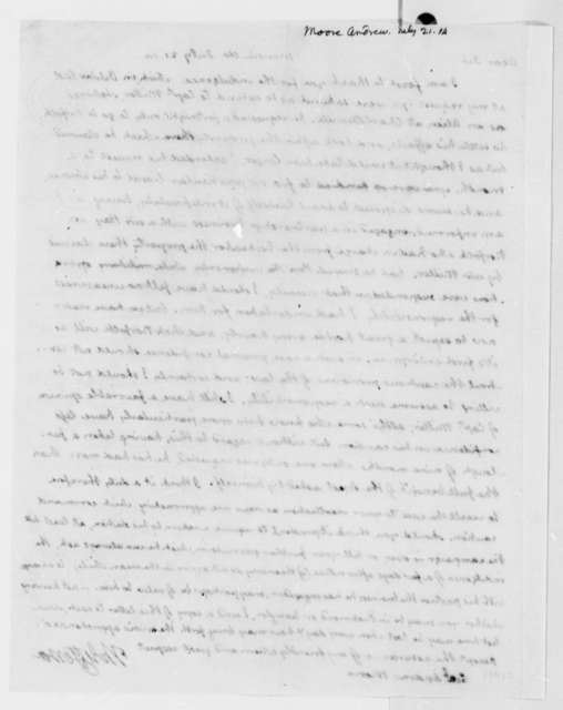 Thomas Jefferson to Andrew Moore, July 21, 1814