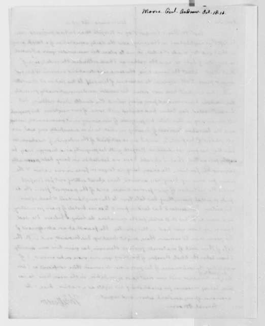 Thomas Jefferson to Andrew Moore, October 18, 1814