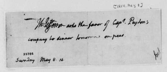 Thomas Jefferson to Carven Peyton, May 8, 1814