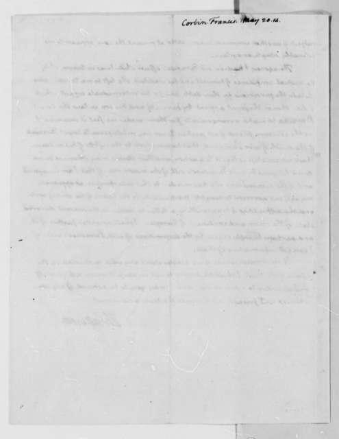 Thomas Jefferson to Francis Corbin, May 20, 1814