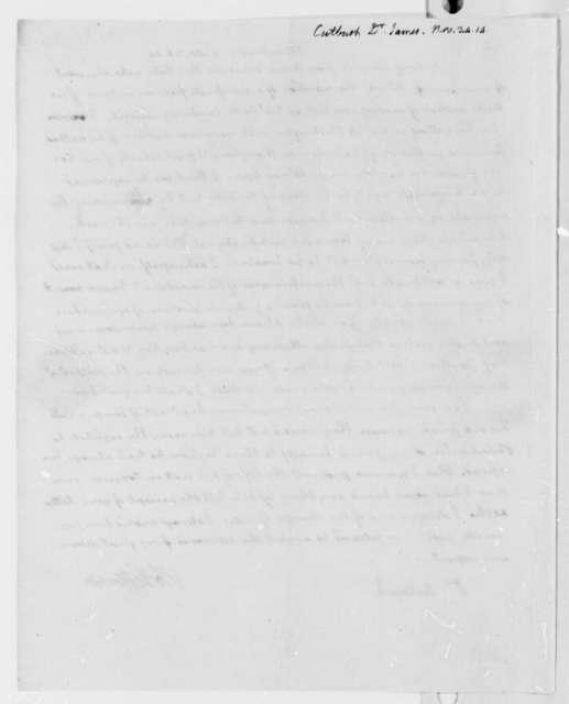 Thomas Jefferson to James Cutbush, November 24, 1814