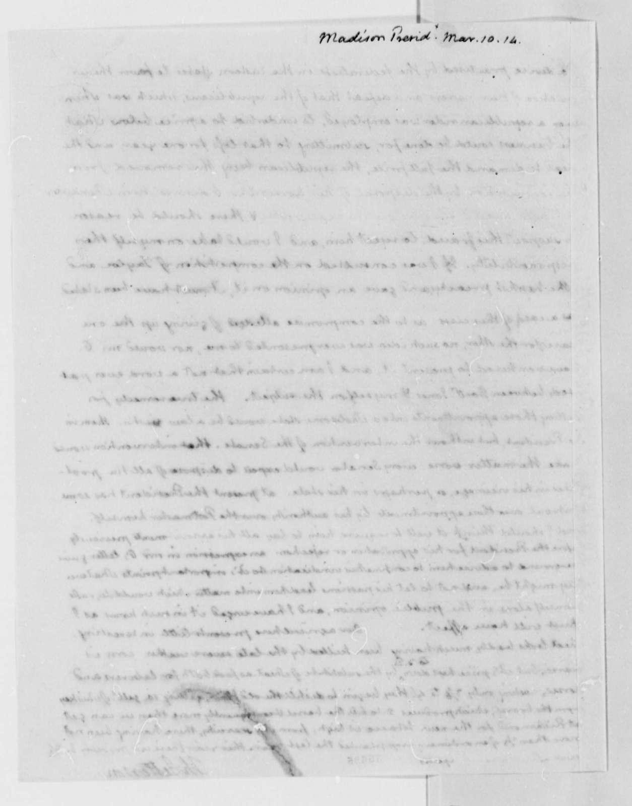 Thomas Jefferson to James Madison, March 10, 1814