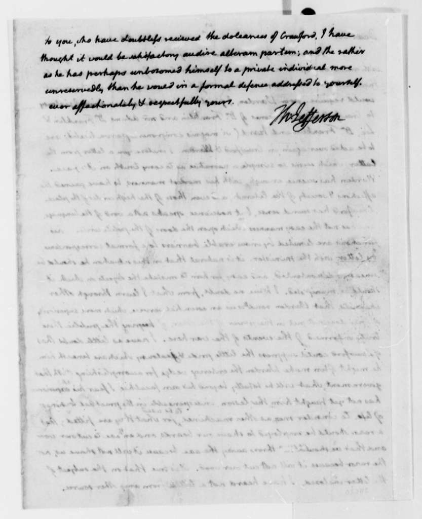 Thomas Jefferson to James Madison, October 13, 1814, with Copy