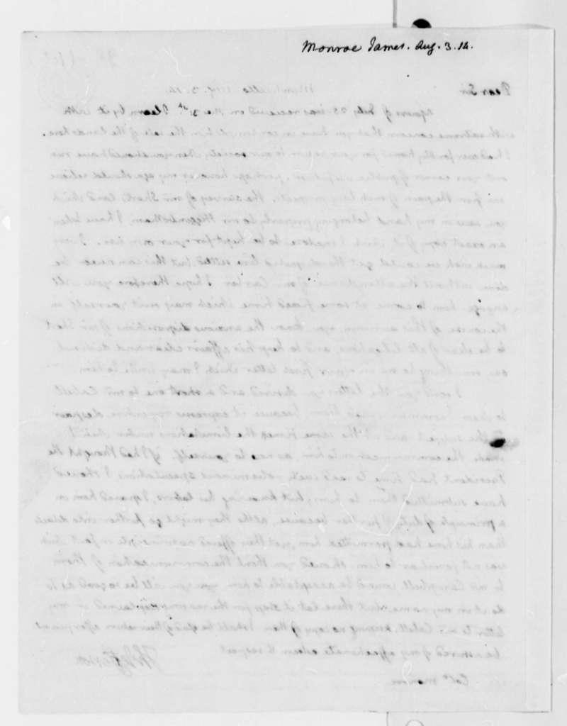 Thomas Jefferson to James Monroe, August 3, 1814