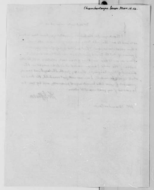 Thomas Jefferson to Jason Chamberlayne, March 16, 1814