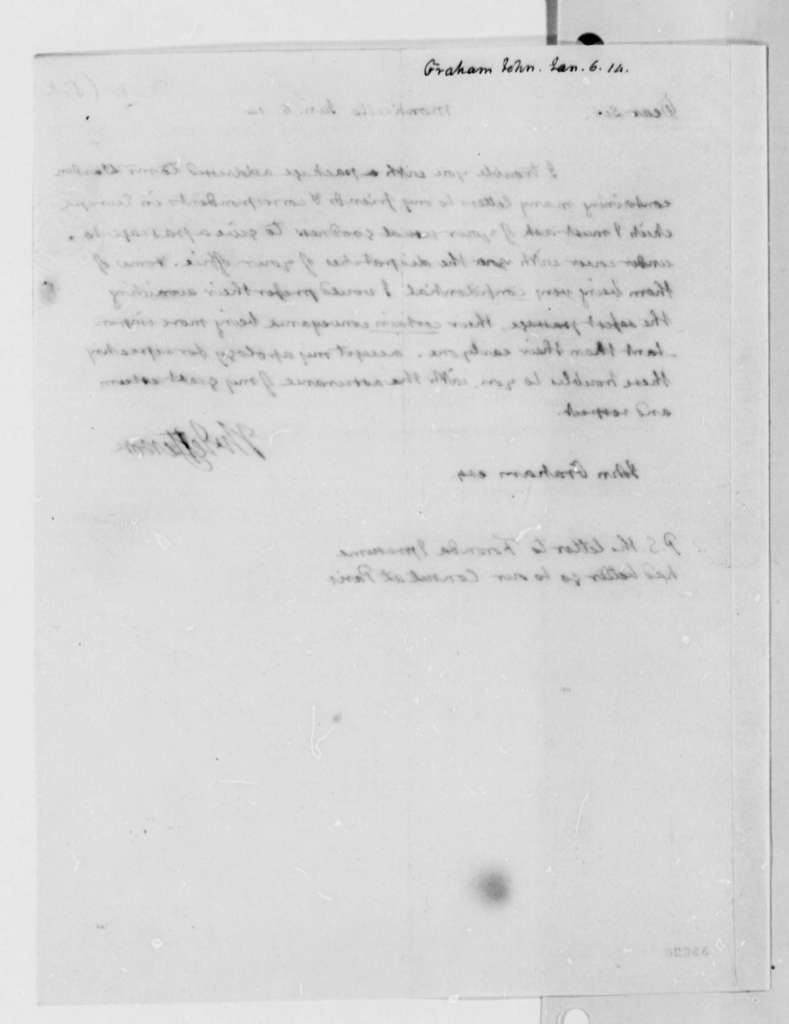 Thomas Jefferson to John A. Graham, January 6, 1814
