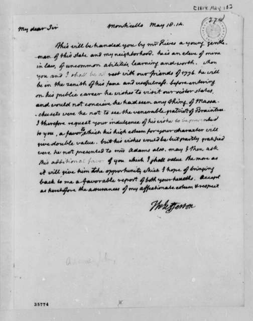 Thomas Jefferson to John Adams, May 18, 1814