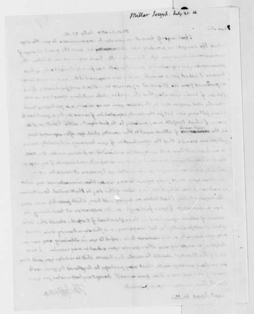 Thomas Jefferson to Joseph Miller, July 21, 1814