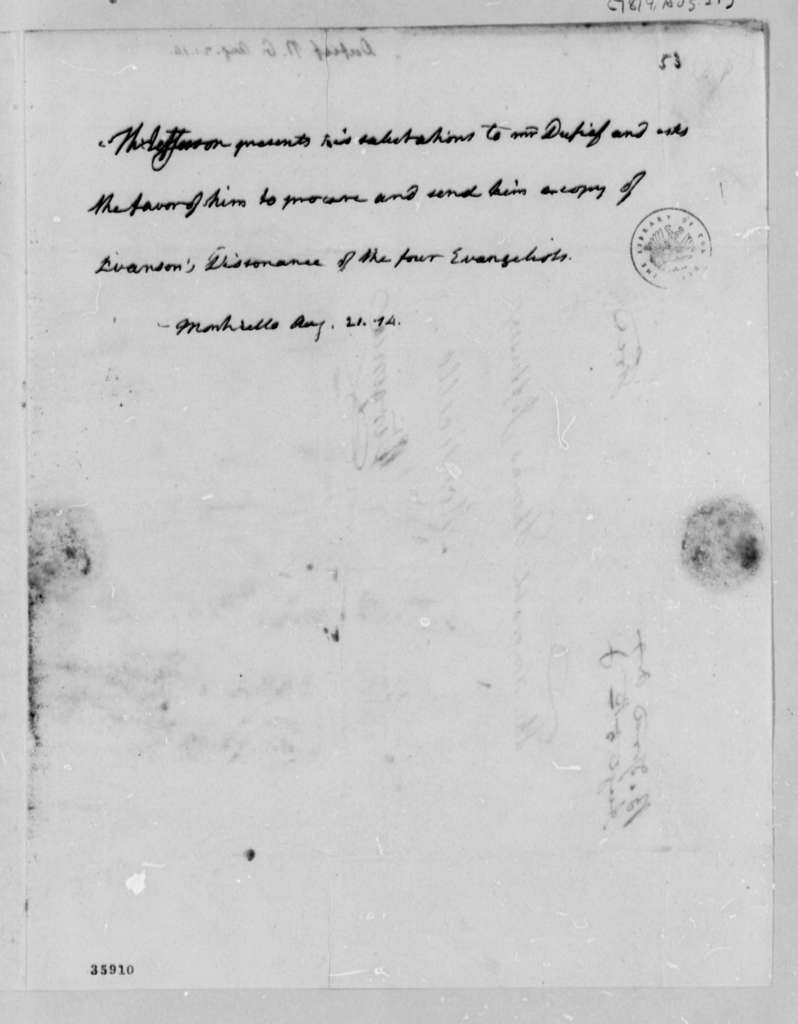 Thomas Jefferson to Nicholas Gouin Dufief, August 21, 1814