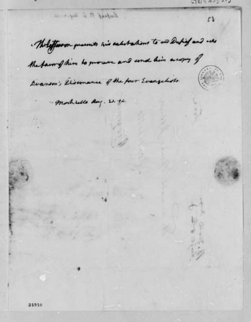 Thomas Jefferson to Nicholas Gouin Dufief, August 21, 1814