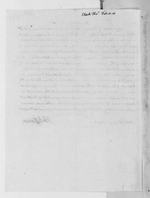 Thomas Jefferson to Thomas Clark, February 10, 1814
