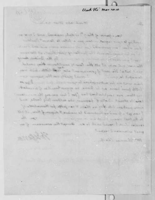 Thomas Jefferson to Thomas Clark, March 20, 1814