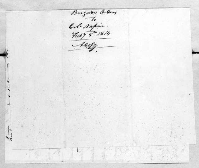 Thomas Johnson, February 5, 1814