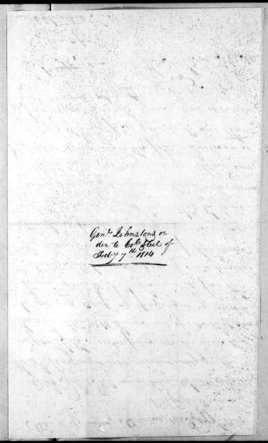 Thomas Johnson, February 7, 1814