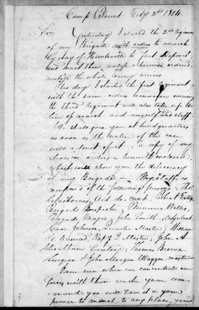 Thomas Johnson to Andrew Jackson, February 2, 1814