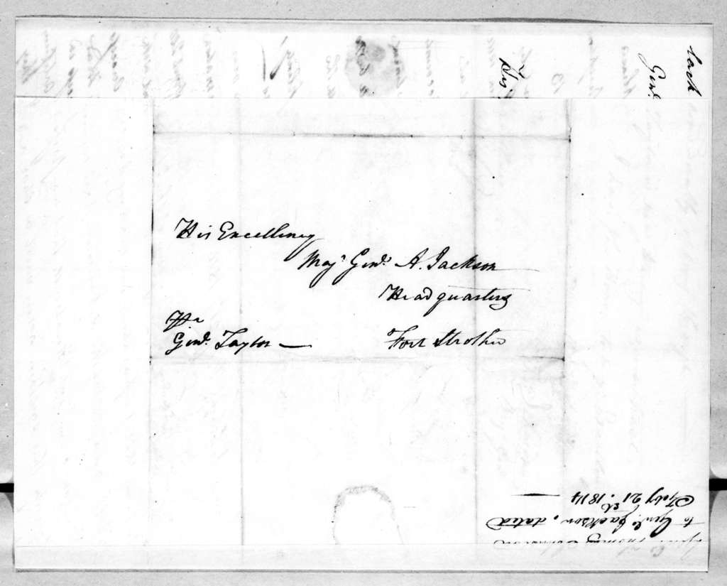 Thomas Johnson to Andrew Jackson, February 21, 1814