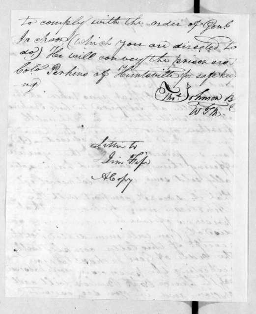 Thomas Johnson to James Fife, April 18, 1814