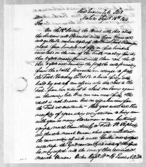 Thomas Langford Butler to Robert Butler, September 15, 1814