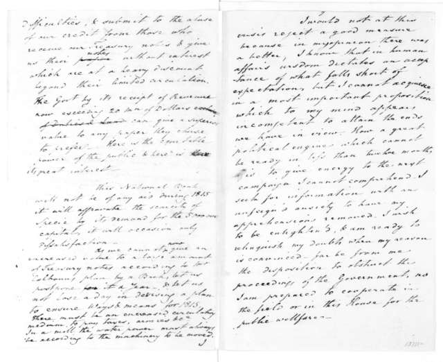 Thomas Law to James Madison, December 10, 1814. Includes plans and notes for the District of Columbia and a National Bank.