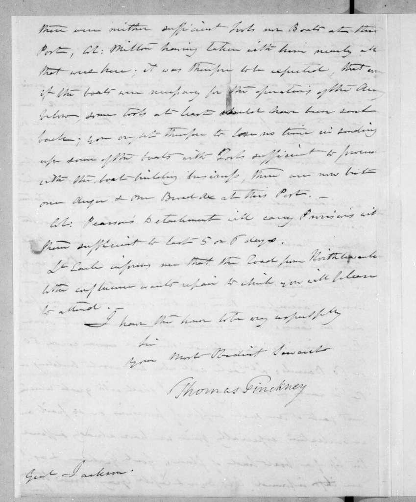 Thomas Pinckney to Andrew Jackson, April 18, 1814
