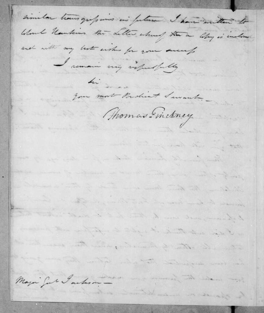 Thomas Pinckney to Andrew Jackson, April 24, 1814
