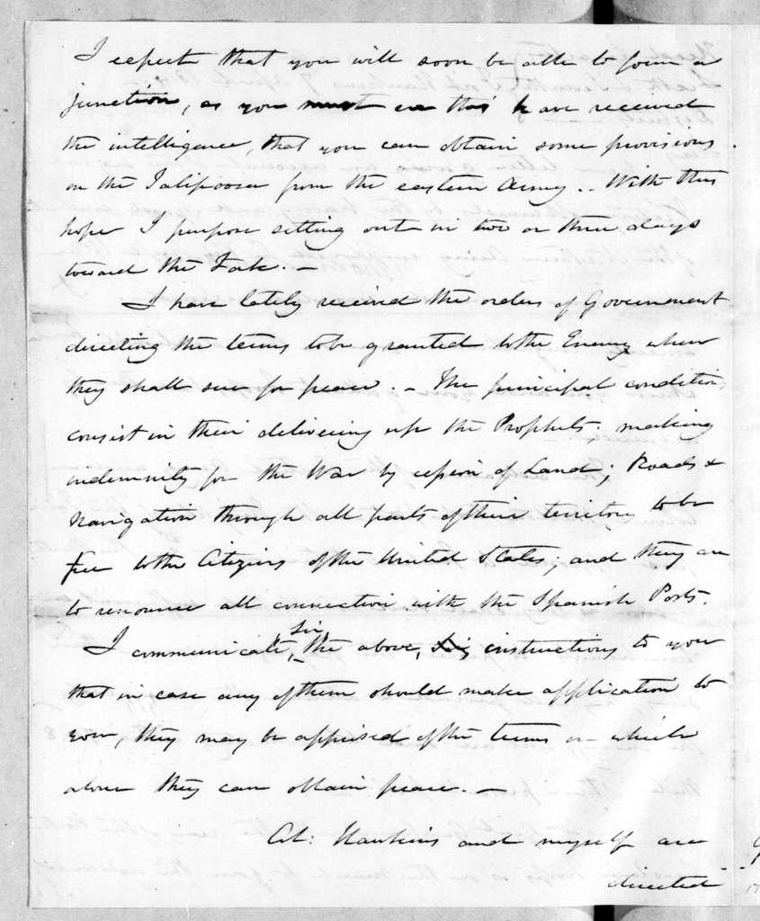 Thomas Pinckney to Andrew Jackson, April 7, 1814