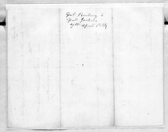 Thomas Pinckney to Andrew Jackson, April 7, 1814