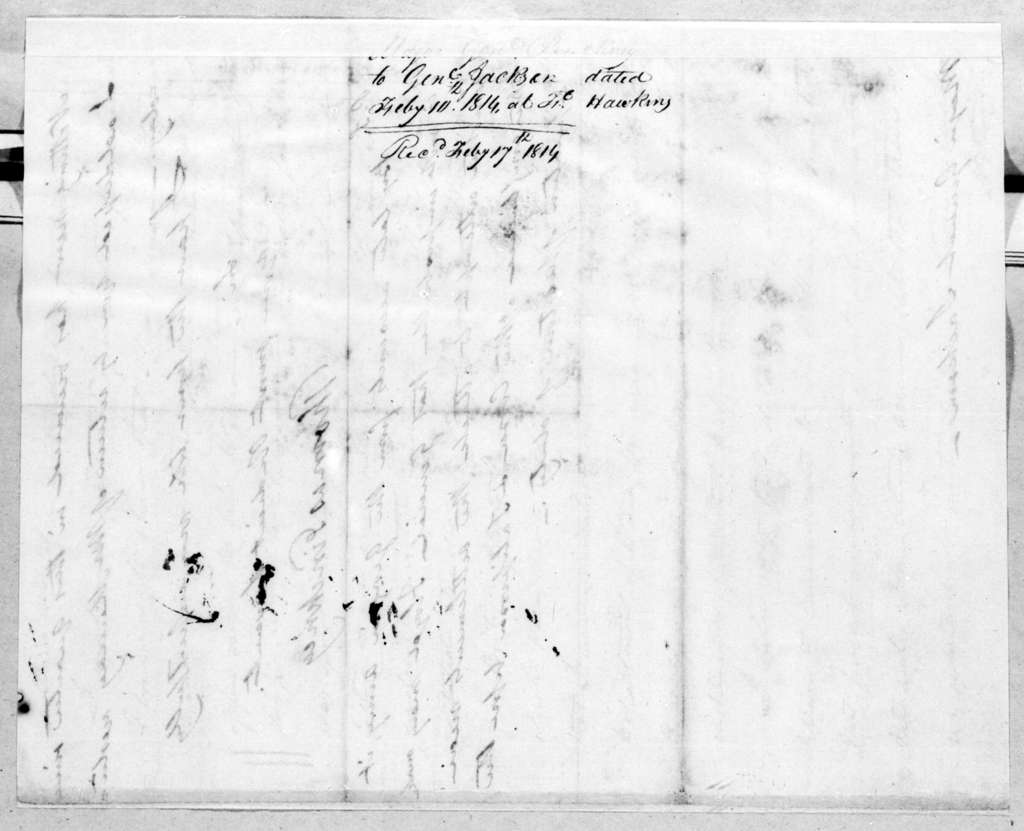 Thomas Pinckney to Andrew Jackson, February 10, 1814