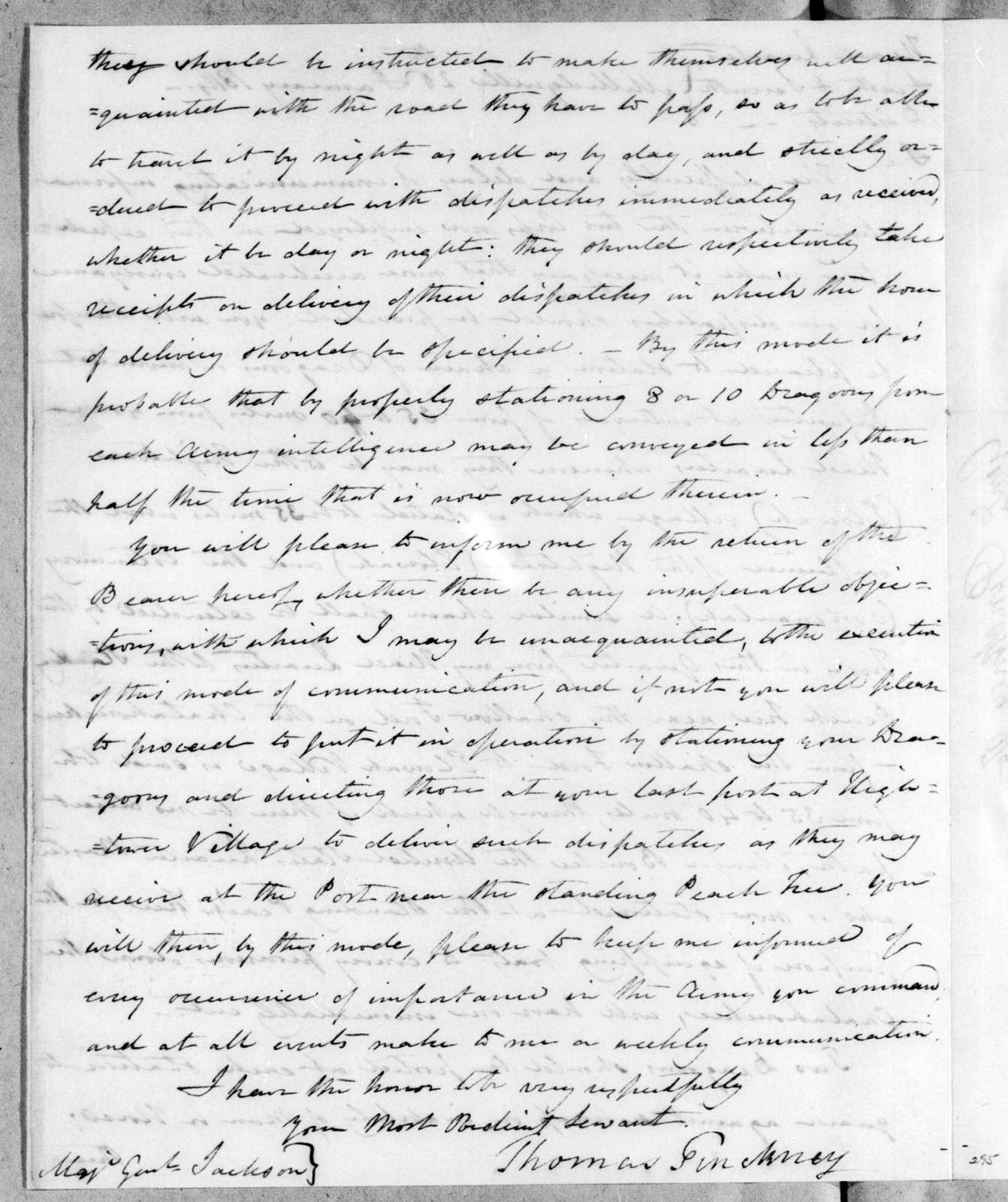 Thomas Pinckney to Andrew Jackson, January 26, 1814