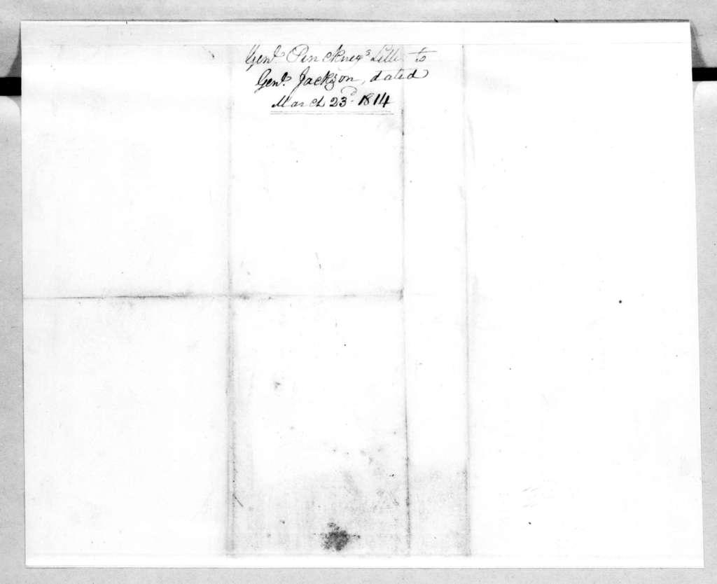 Thomas Pinckney to Andrew Jackson, March 23, 1814