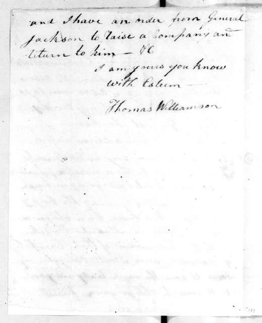 Thomas Williamson to Robert Hays, January 10, 1814