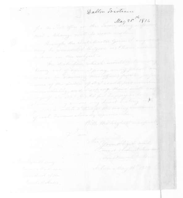 Tristram Dalton to James Madison, May 26, 1814.