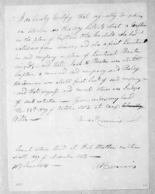 Ulrich Cummins, June 11, 1814