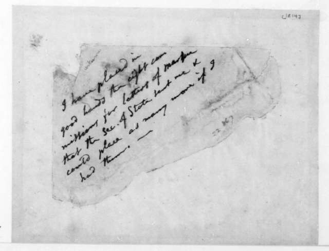Unknown to Unknown. Notes.1814.
