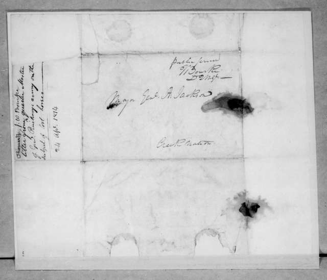 Walter Bourke to Andrew Jackson, April 24, 1814