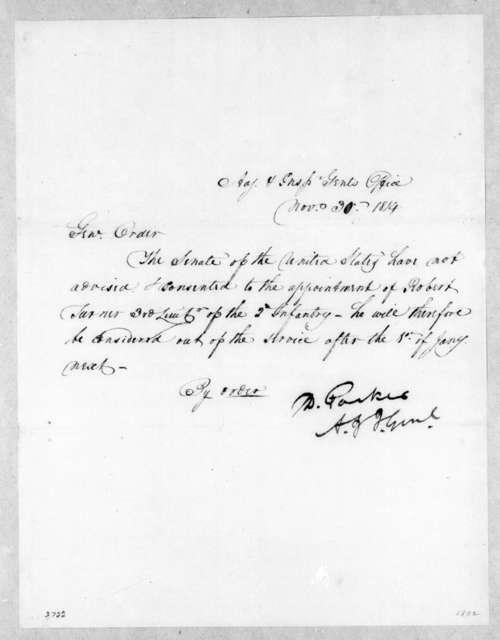 Washington D. C. Adjudication & Inspector Generals Office, November 30, 1814