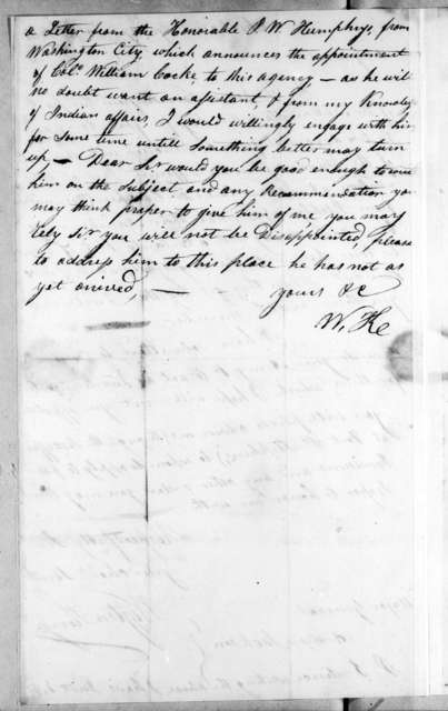 Wigton King to Andrew Jackson, November 4, 1814