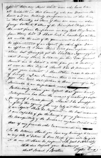 Wigton King to Andrew Jackson, September 26, 1814