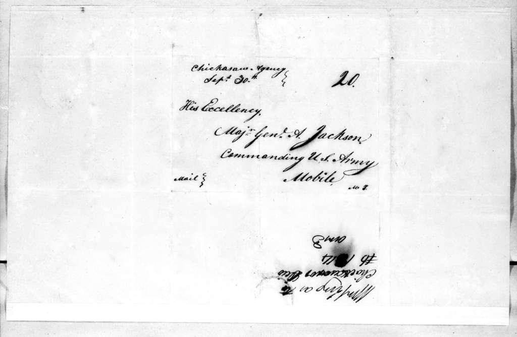 Wigton King to Andrew Jackson, September 30, 1814