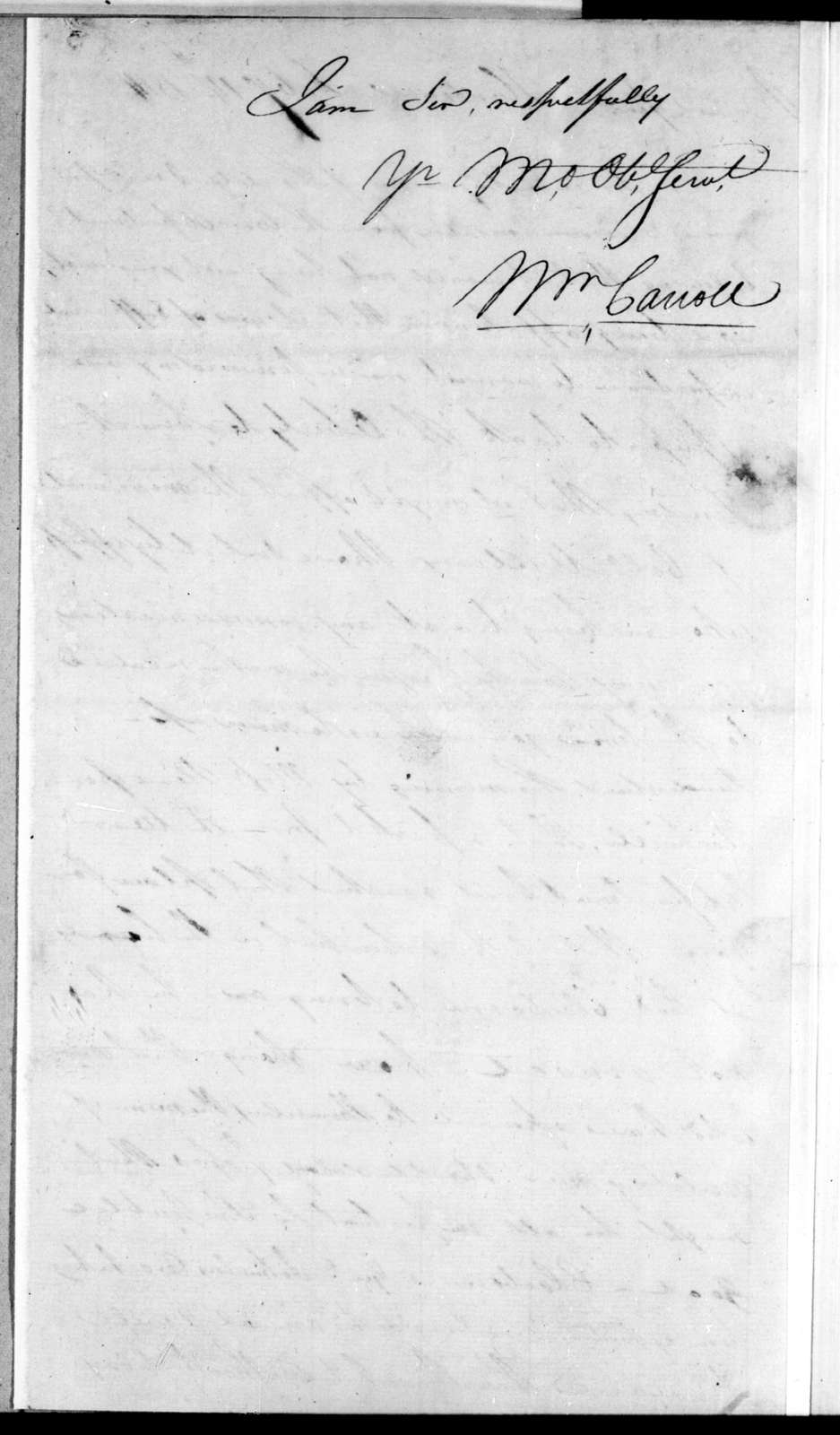 William Carroll to Andrew Jackson, February 14, 1814