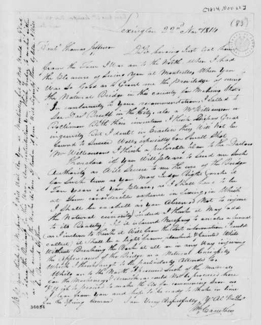 William Caruthers to Thomas Jefferson, November 22, 1814