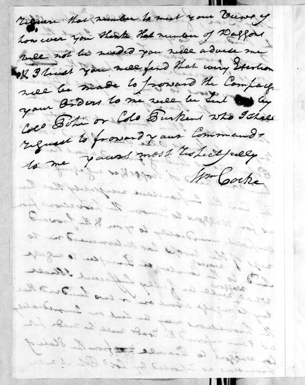William Cocke to Andrew Jackson, February 9, 1814