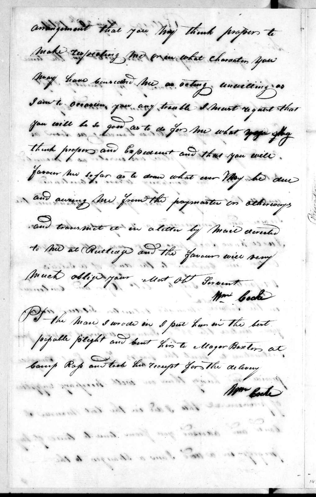 William Cocke to Andrew Jackson, May 20, 1814