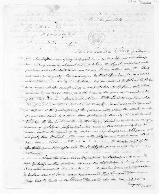 William Duane to James Madison, June 22, 1814.