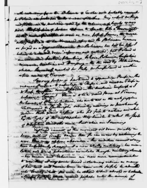 William Duane to Thomas Jefferson, August 11, 1814, with Suggestion