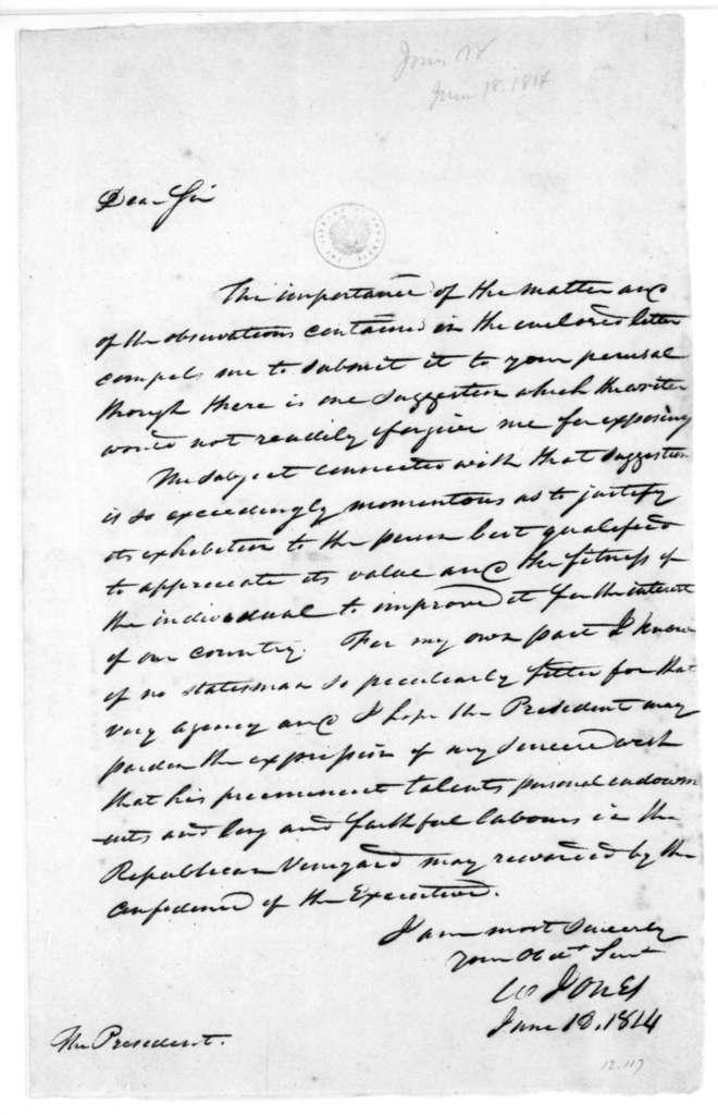 William Jones to James Madison, June 18, 1814.