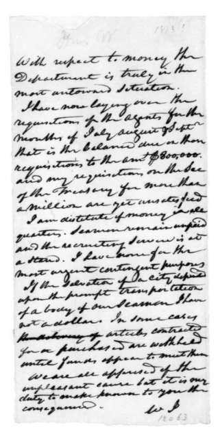 William Jones to James Madison, October 15, 1814.