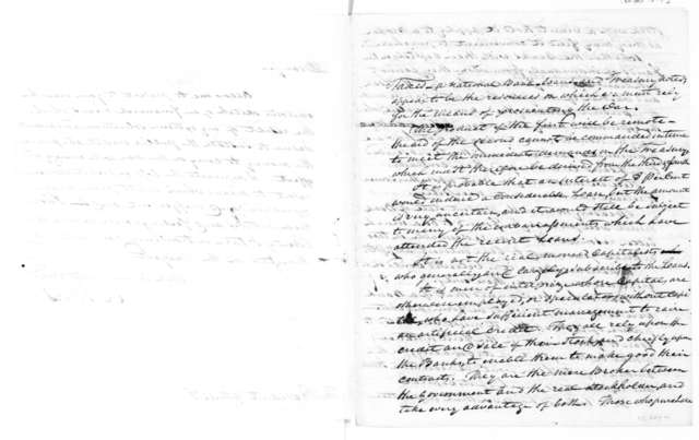 William Jones to James Madison, October, 1814. Sketch on Financial Means.