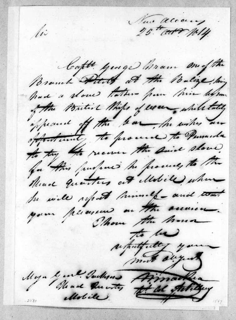 William MacRea to Andrew Jackson, October 25, 1814